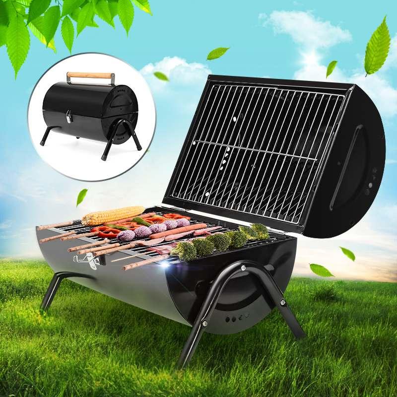 Barbecue de Camping Portable en acier pliant charbon de bois Barbecue grilles pour jardin extérieur pique-nique Barbecue Barbecue grille de cuisson rôtie