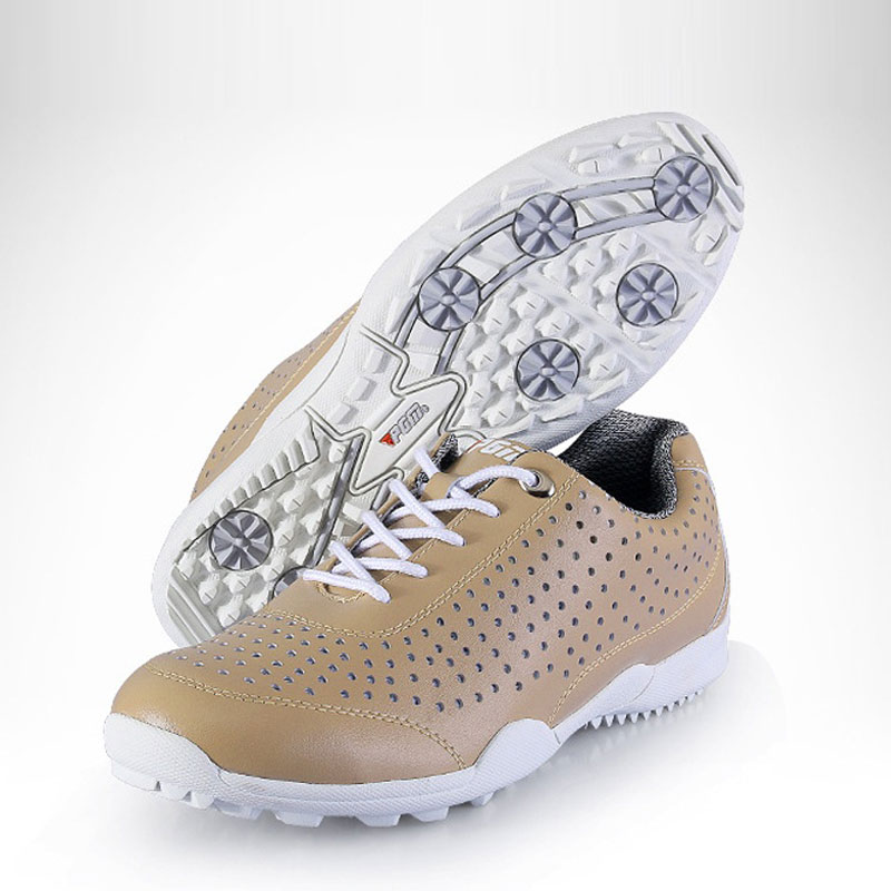 Pgm Mens Authentic Golf Shoes Waterproof Breathable Sport Sneakers Men Skidproof Lace Up Golf Footwear AA10101