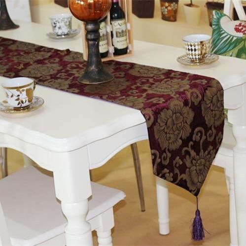High Quality Luxury Velour Soft Flower Bronzing Retro Tea Dining - Home Textile - Photo 5