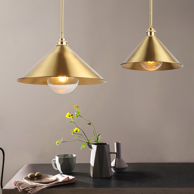 Nordic arts Wrought iron pyramid pendant lights, Polygon reflection lampshade, Suitable for home, shop decoration lighting