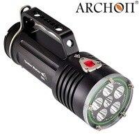 Погружение фонарик ручка подводный свет CREE XM L2 U2 светодиодный профессиональный фонарь 5000 lm 18650 литий ионный аккумулятор * 6 встроенный
