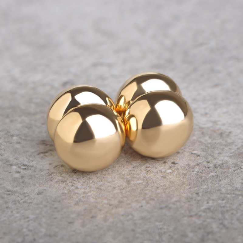 magnetic earrings s brand new magnetic earrings studs gold color 1 0 cm 8558