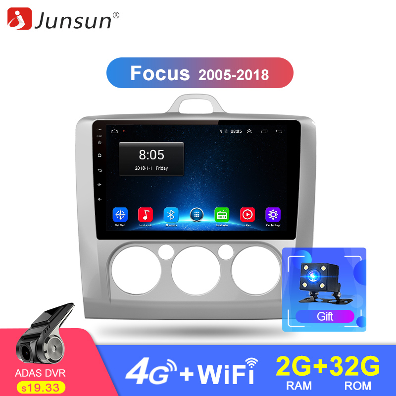 Junsun 2G 32G Android 8 1 4G Car Radio Multimedia Video Player Navigation GPS For ford
