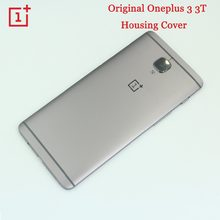 Original ONEPLUS 3 3T Metal Rear Housing Cover,Replacement Back Door Battery Case Card Slot/Side Button/Lens Glass ,Grey(China)