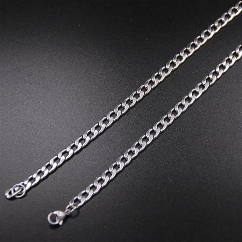 Цепочка NK Figaro мужская из нержавеющей стали, ожерелье 6 мм 40/50/55/60/70 см, модные ювелирные украшения