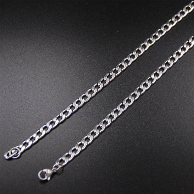 Hot sale stainless steel NK Figaro chain necklace Size 6MM 40/50/55/60/70CM Fashion jewelry for men drop shipping Top Quality