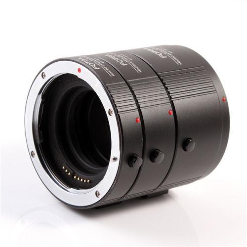 FOTGA Métal Macro Automatique Extension Tube Set DG pour CANON EF EFS Objectif 13mm 20mm 36mm