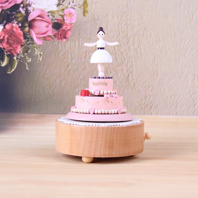 2017 Hot Sale Birthday Cake Ballet Dancer Carousel Music Box Gift