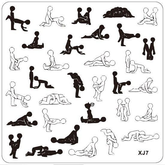 10pcs Sex Pose Nail Art Tips Stamp Stamping Image Plate