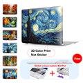 Noche estrellada Pintura Cristal Caja Del Ordenador Portátil Para Macbook Air 13 Caso 11 Air Pro 13 15 Retina Nueva 12 Pulgadas Mac Book Air 13 A1465 Caja