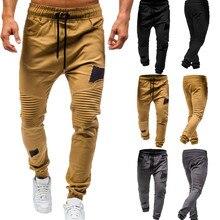 0b2b2c411134 2019 degli uomini pantaloni della tuta pantaloni slim fit Coulisse Tute e  Salopette Pantaloni Sportivi Pantaloni