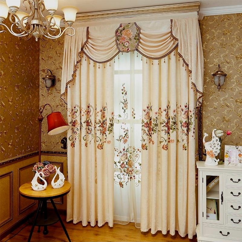 2018 nuevas cortinas de lujo para sala de estar comedor dormitorio ...