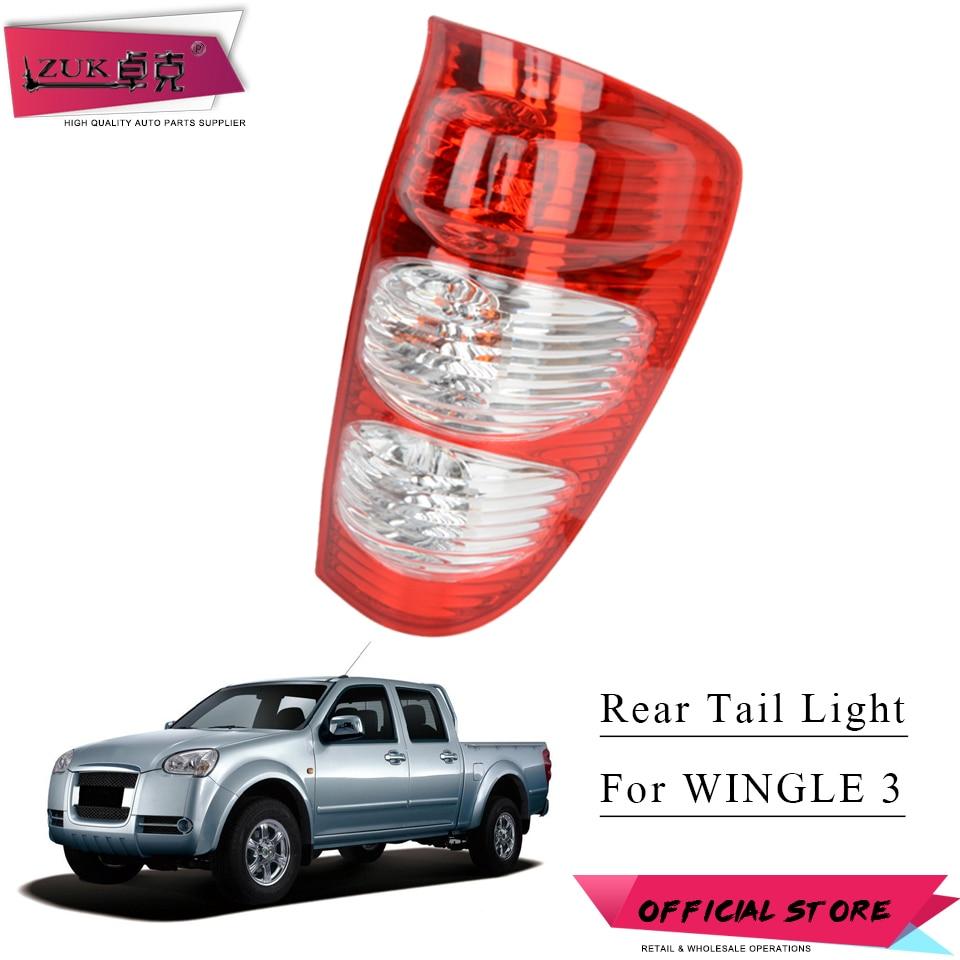 ZUK Tail Light Tail Lamp Rear Brake Light For Great Wall Wingle 3 2006 2007 2008 2011 Tailight Tailamp 4133100-P00 4133200-P00