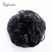 Bynrana Remy Hair Curly Human Chignon With Rubber Band Hair Extension 5 Colors Brazilian Hair