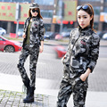 Military quality!2017 women fashion slim camouflage lapel embroidery multi-pocket  suits.
