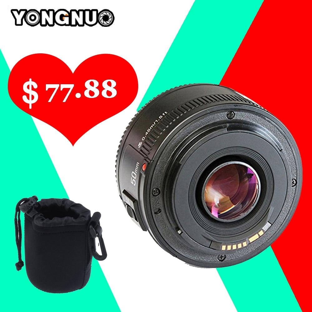 Yongnuo Yn 50mm Lens Fixed Focus Ef F 18 Af Mf Lense Fix For Canon Yn50mm Large Aperture