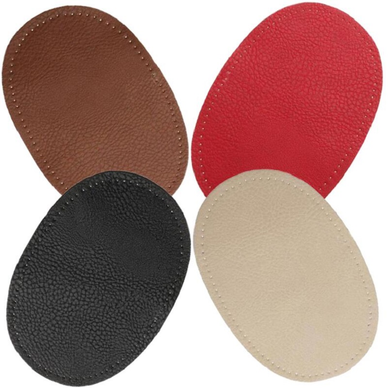 Fashion KZ 14*9CM Genuine Leather Oval Elbow Knee Patch With Tight Hole Sewing Repair Clothing Or Bag Accessories KZBT028