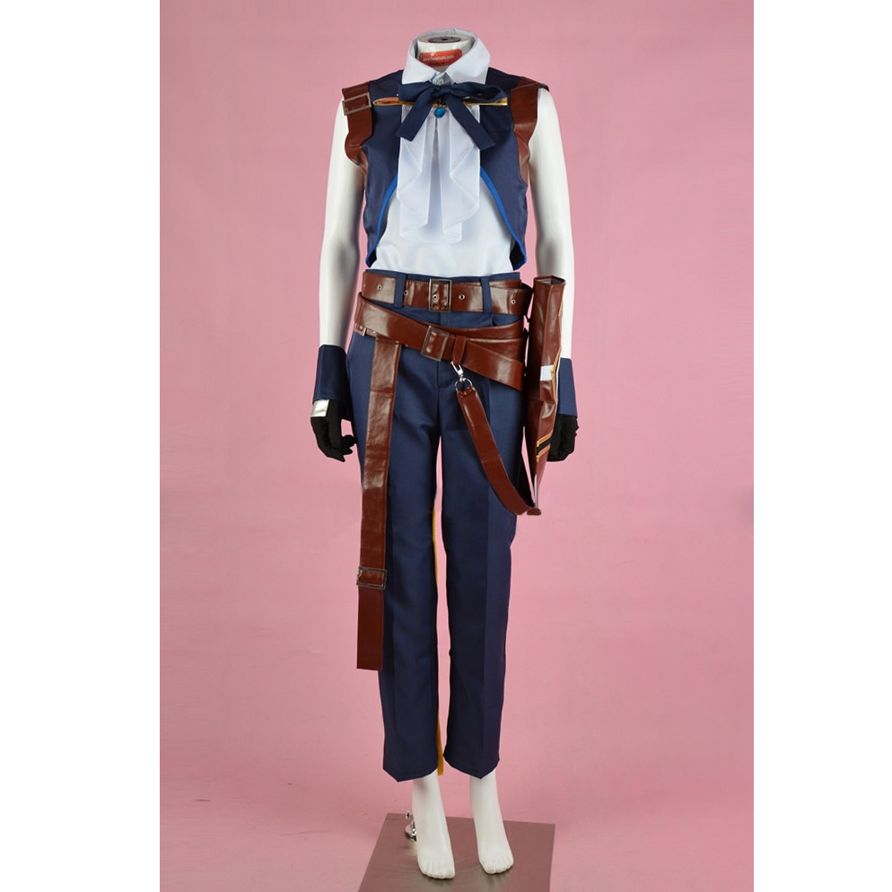 Zidane Costume Cosplay Final Fantasy Women's Shirt Pants Vest Costume Cosplay for Halloween Carnival Party
