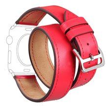 TOROTOP 2017 Newest WRISEBAND For APPLE WATCH BAND Customize Color LEATHER CORREAS FOR APPLE WATCH STRAPS 38mm Series 1 Series 2