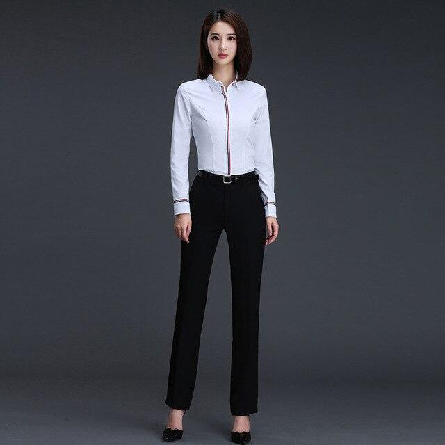 Women Business Blouse Button Long Sleeve Lapel Ladies Office Work Shirts Elegant Female Blusas Satin Slim Wear New Arrival 1