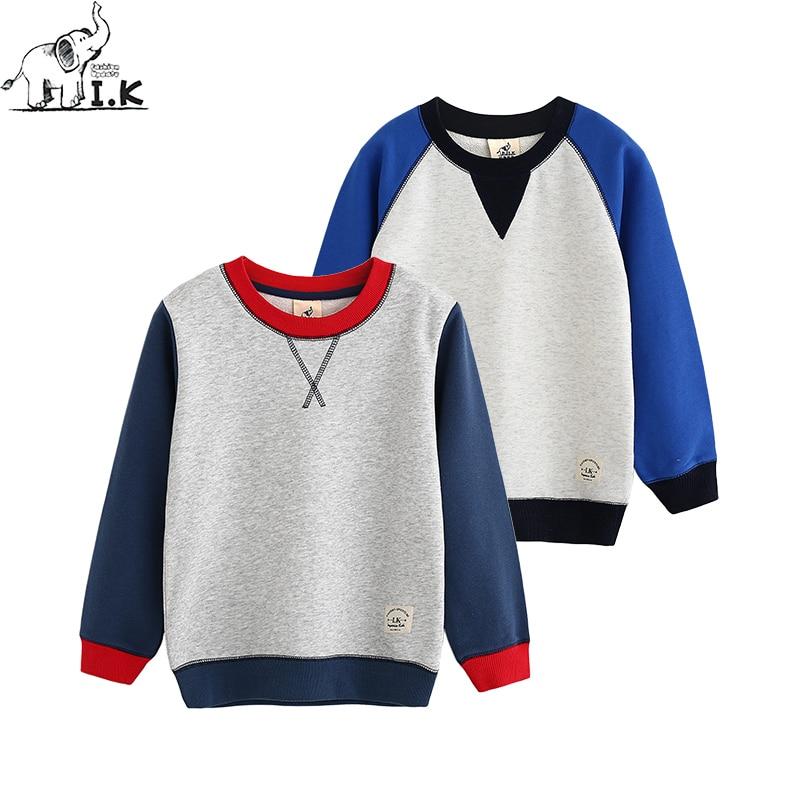 c283f2a4ac563 I.K Automne Printemps garçons sweatshirts coton O-cou à manches ...