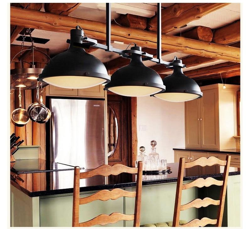 Konstruktiv Industrielle Licht Lampe Vintage Anhänger Lampen Bar Cafe Loft Industrie Loft Pendelleuchten Edison-birne E27 Schwarz