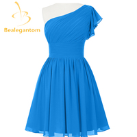 Bealegantom Cheap Sexy Blue Short Chiffon Homecoming Dresses 2017 Beaded Prom Party Gowns Vestido De Festa