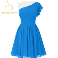 Bealegantom Cheap Sexy Blue Short Chiffon Homecoming Dresses 2017 Beaded Prom Party Gowns Vestido De Festa