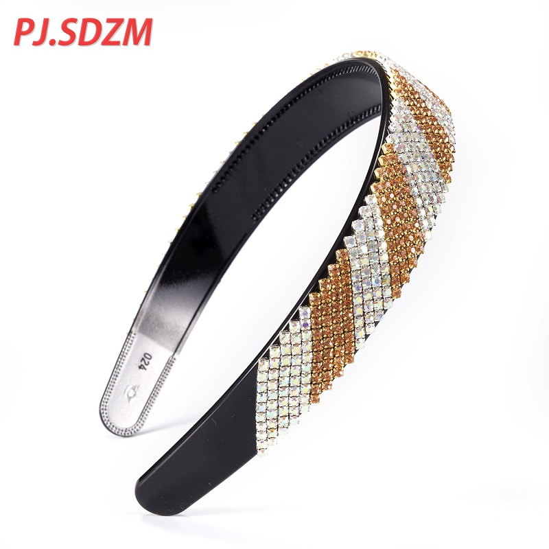 Rhinestone Fashion Shinning Women Hairband Patchwork Chic Good Quality Female Hair Accessories Gift Party Necessity FS0034