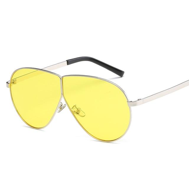 e9f368432b Fashion 2018 Big Aviator Sunglasses Women Men Luxury Brand Sun Glasses  Vintage Oversized Sunglass Clear Sunglasses Pink Goggles