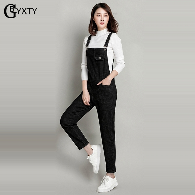 Gbyxty Plus Size 6xl Korea Style Loose Denim Rompers Jumpsuit Womens