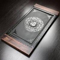 High Grade Wujinshi Tee Tablett Entwässerung Kung Fu Tee Waschen Set Geschnitzt Stein Ganze Stück wohnzimmer büro Haushalt