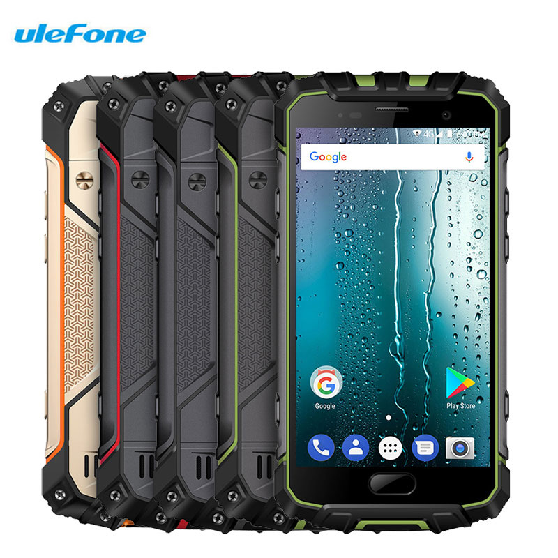 Ulefone Armor 2S 5.0 Inch Smartphone IP68 NFC Fingerprint Android 7.0 13.0MP+8MP 2GB RAM 16GB ROM Shockproof 4G LTE Cell Phones