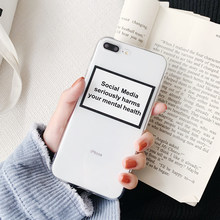 Ultra Slim Transparent Soft TPU English text Phone Case For iphone XS Max Case For iphone X XR 6 S 7 8 Plus 7plus back cover(China)