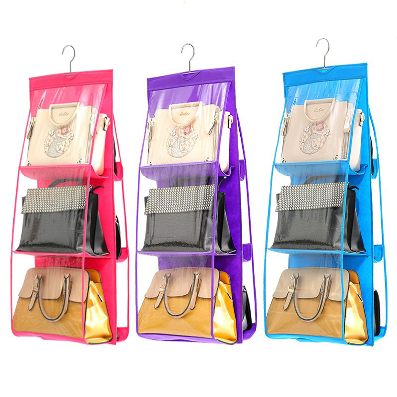 Luggage & Bags Double-sided Wardrobe Storage Bag Transparent Pvc Wall Hanging Multi-layer Dustproof Pouches