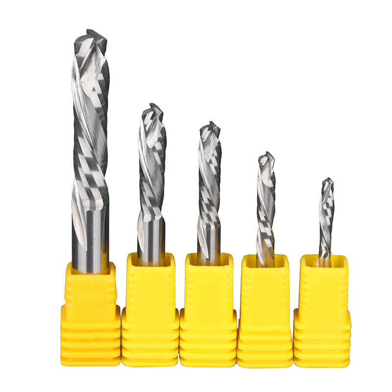 UP DOWN Double Flutes Composite Cutter Wood Cutter End Mill Woodworking Milling Engraving Machine Cnc Router Bit 8 60 90 120 v 2 flutes cnc machine engraving bit two spiral cutter cnc router endmill