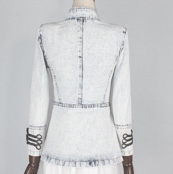 Donne Napoleone Giacca di Denim Vintage Uniforme Militare