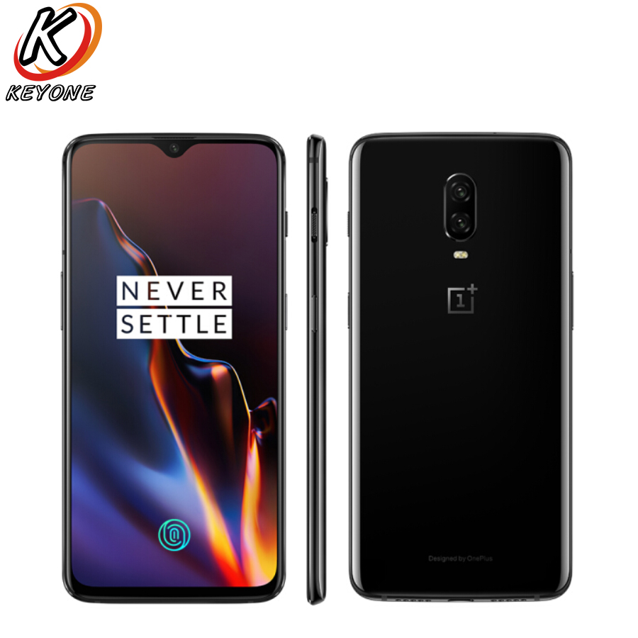 """New Oneplus 6T 4G LTE Mobile Phone 6.41"""" 8GB RAM 128GB ROM Snapdragon 845 Octa Core Dual Rear Camera Android 9.0 NFC Smart phone"""