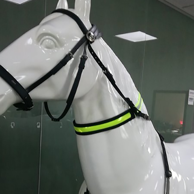 LED Horse Collar Bridle Halter Multifunctional Visibility Polyester Night Riding Equestrian Safety Gear With Usb Charging