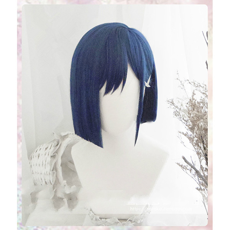 DARLING In The FRANXX 015 Cosplay Wigs Ichigo Wigs 24cm Short Blue Synthetic Hair Perucas Cosplay Wig+ Wig Cap