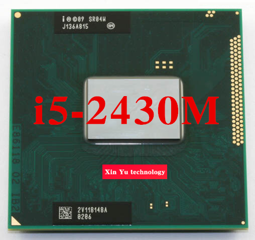 ФОТО Lifetime warranty Core i5 2430M 2.4GHz SR04W 2430 Notebook processors Laptop CPU PGA 988 Official version  Computer Original