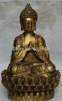 12 Китайский буддийский латунный шкив 18 Архат Будда Шакьямуни Статуэтка Будда Амитабха