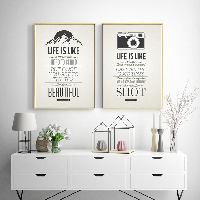 HEYCUADRO Quotes Inspiring Life Poster Painting Wall Pictures for ...