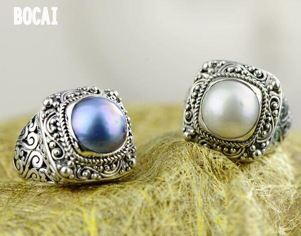 S925 bague en argent pour femmes perle mabeizhu généreux bijoux de mode