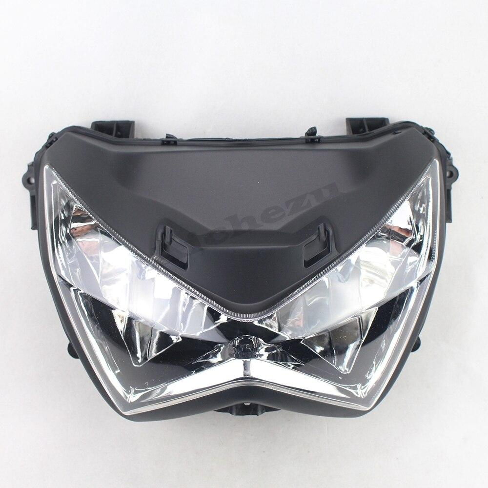 ACZ Motorcycle Black Front Light Headlights Headlamps Head Lights Lamps Assembly For KAWASAKI Z250 Z800 2013