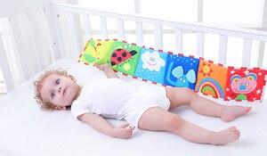 Image 3 - BOLAFYNIA Bé sơ sinh Sách vải 2 mặt màu trắng đen đầu giường Sách vải trẻ em Đồ chơi Giáo Dục