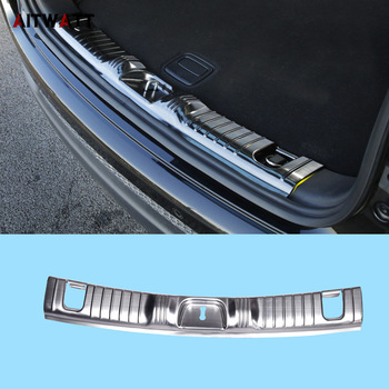 For Jeep Compass 2017 2018 Inner Rear Bumper Protector Inside Stainless Steel Door Sill Plate Trunk Cover Trim Car Styling 1pcs