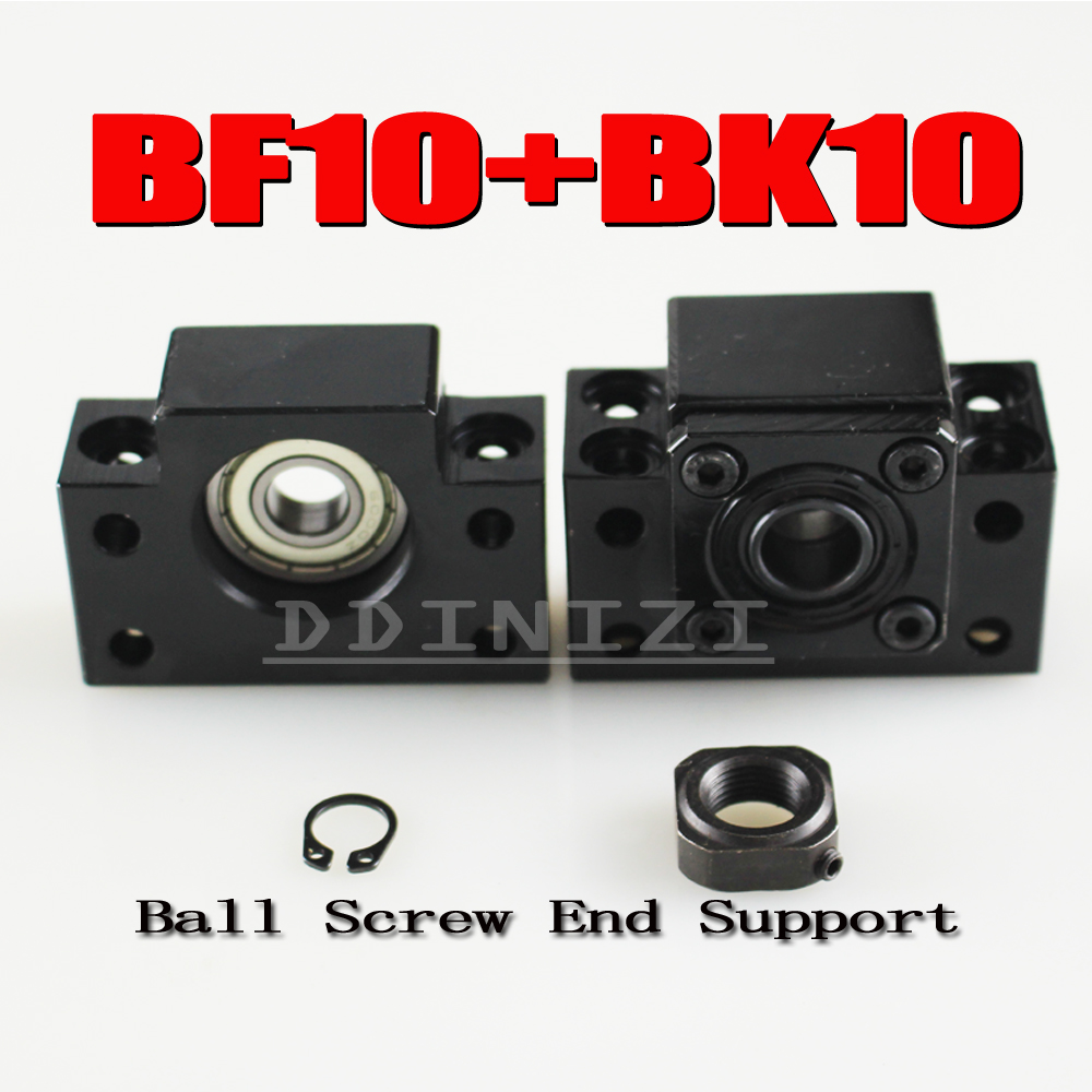 BK10 BF10 Set : 1 pc of BK10 and 1 pc BF10 for SFU1204 Ball Screw End Support CNC parts BK/BF10 high quality 2set bk10 bf10 set 2pc of bk10 and 2pc bf10 for sfu1204 ball screw end support cnc parts bk bf10 free shipping