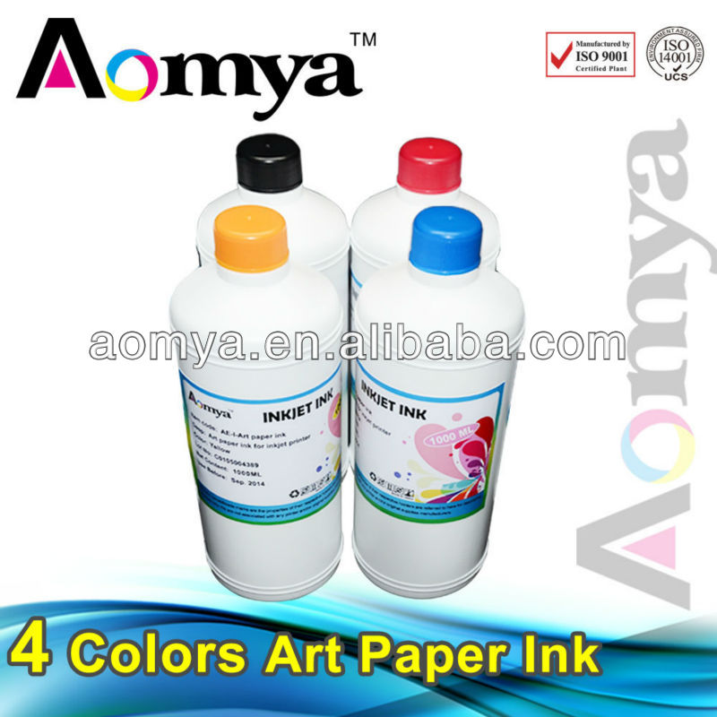 Fast Shipping !!! High Quality art paper ink compatible for Epson printers, 4colors/set, BK/C/M/Y