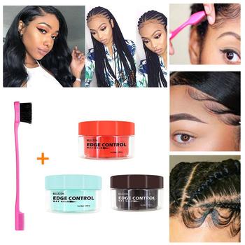 Odświeżający olejek do włosów wosk kremowy kontrola krawędzi długotrwały krem do stylizacji włosów zepsuty lakier do włosów Anti-Frizz żel utrwalający włosy tanie i dobre opinie ALIVER TF-C0053 Pomady i woski Hair Edge Control Cream
